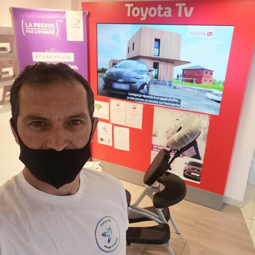 massage événementiel entreprise Toyota
