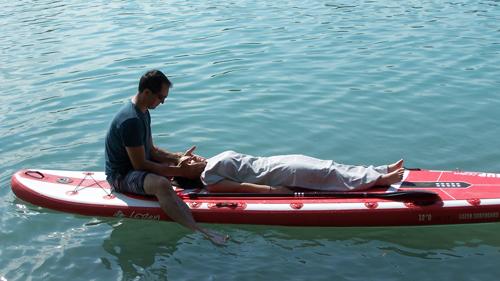 massage visage sur paddle oraison