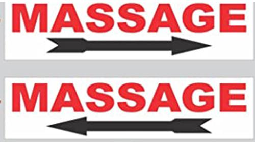 panneau massage direction