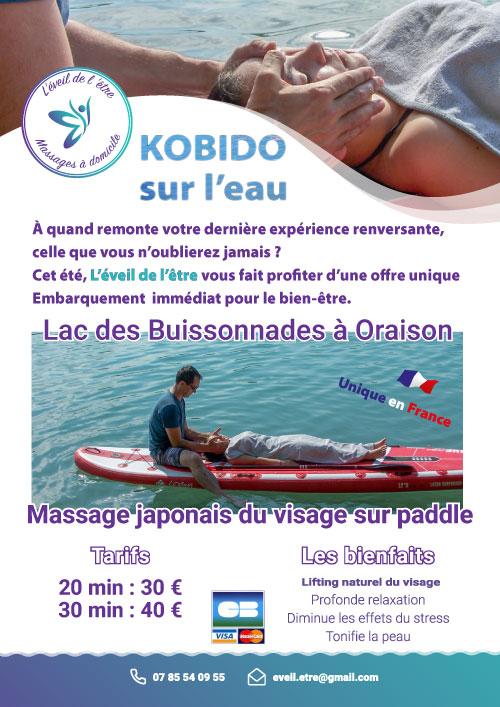 massage visage sur paddle